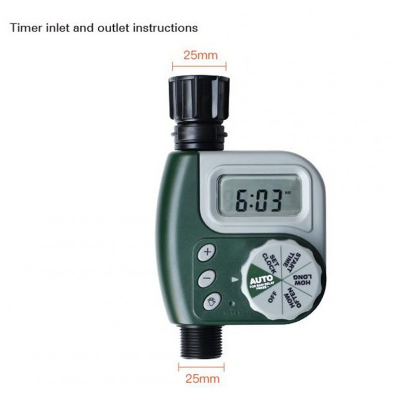 Automatic Digital Garden Water Timer Watering Irrigation System Controller European Version green