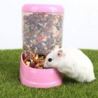 Automatic Food Dispenser for Pet Hamster Syrian Hamster Feeding Bowl Pink
