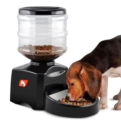 automatic large feeder amazon dry portion material liter pet abs animal com cat dp new dog control