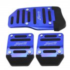 Automobile Anti-skid Foot Pedal Manual / Auto Gear Accelerator Brake Pedal Cover Treadle Set Universal Application Manual - Blue