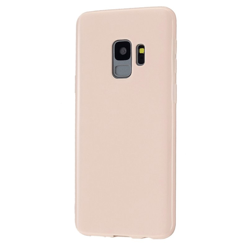 For Samsung S9/S9 Plus Mobile Phone Cover Classic Plain Design Classic Smartphone Case Soft TPU Phone Shell Sakura pink