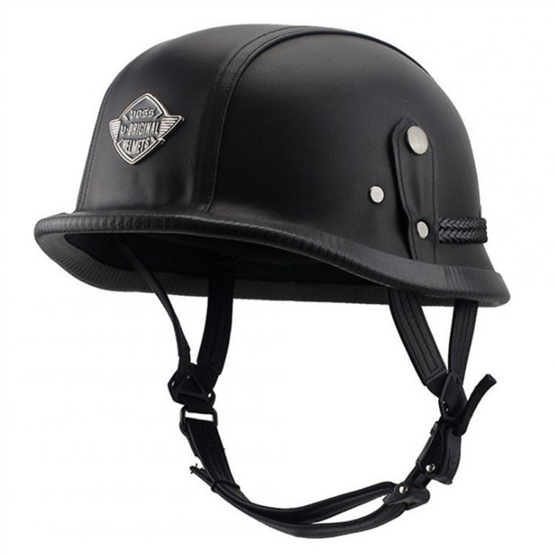 Helmet Personal Retro Cruiser Motorcycle Helmet Black XL