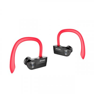 Awei T2 TWS Sports Ear Hook Headphones Red