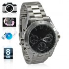 Awesome metal  Camera Watch   smart wristwatch incorporates 640x480 resolution hidden video recording  and 8GB of storage