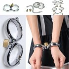 B.D.S.M Cuffs Men and Women Fashion Stainless Steel B.D.S.M Cuffs Toys for Couples Silver