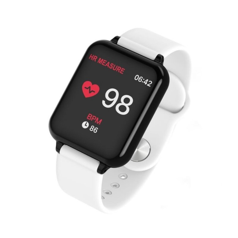 B57 Color Screen Fitness Bracelet Activity Tracker Heart Rate Blood Pressure Monitor Watch white