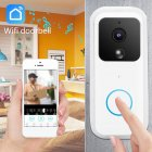 B60 Intelligent <span style='color:#F7840C'>WiFi</span> Wireless <span style='color:#F7840C'>Doorbell</span> 1080P Wireless HD Video Night Infrared Security Intelligent Protection white