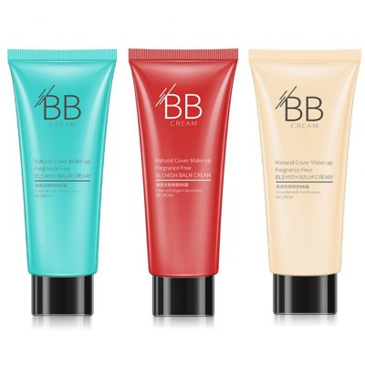 BB Cream Base Makeup Concealer Moisturizer Cosmetics Face Foundation Makeup Ivory white