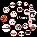 BDSM Restraints Game Bondage Kit Handcuffs Ankle Cuffs Blindfold Rope Sex Toys for Adults 18pcs