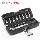 BIKEHAND Bicycle Repair Tools Kit Bike Torque Wrench Allen Key Tool Socket Set Road MTB Bike Tools 1/4'' Torque Fix Set 2-24 NM Mixed color 617-2 s_Free size