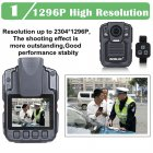 BOBLOV HD66 02 64GB HD 1296P Mini Camcorder Security Body Camera Night Vision Video Recorder  GPS  remote control version  64G