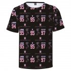 BTS 3D Digital Printed Shirt Loose Casual Leisure Short Sleeves Top for Man 3Dc_XL