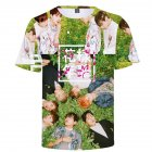 BTS 3D Digital Printed Shirt Loose Casual Leisure Short Sleeves Top for Man 3De_L