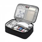BUBM Portable Electronic Accessories Travel Case Organizer Carry Bag for Cables USB Flash Drive  Single layer mesh bag - black