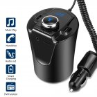 BX6 Bluetooth Transmitter USB Charger Adapter Car Wireless Converter Music Player Hands Free Calling Support TF Card black