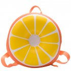 Baby Backpack Nylon Pvc Waterproof Cartoon Fruit Shape Cute Snack Bag orange
