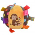Baby Ball Plush Ball Toy Super soft comfort ball Easy to Grasp Bumps Help Develop Motor Skills  monkey