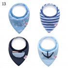 Baby Bandana Drool Bibs Set  4 Pack Unisex Absorbent Cotton