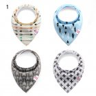 Baby Bandana Drool Bibs Set  4-Pack Unisex Absorbent Cotton