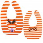 Baby Bib Feeding Bib Two sided Waterproof Cartoon Printed Saliva Towel Baby Product Stripe Deer