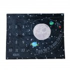 Baby Blanket Anniversary Flannel Growth Commemorative Blanket Baby Photography Props Starry sky 100 75cm