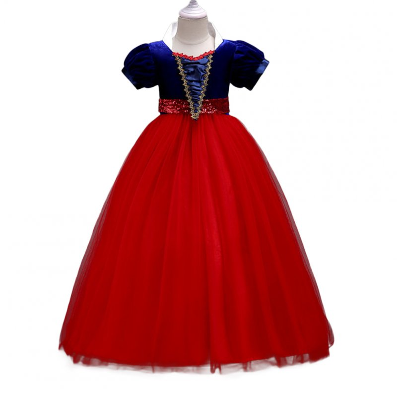 Baby Girl Stylish Tutu Princess Dress Lovely Bowknot Decoration Dress for Halloween  red_130cm