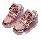 Fashion LED Sole Shoes for Todlers pink