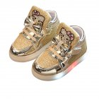 Girls Anti-slip LED Soft Shoes Golden 22