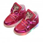 Girls Anti-slip LED Soft Shoes Pink 22