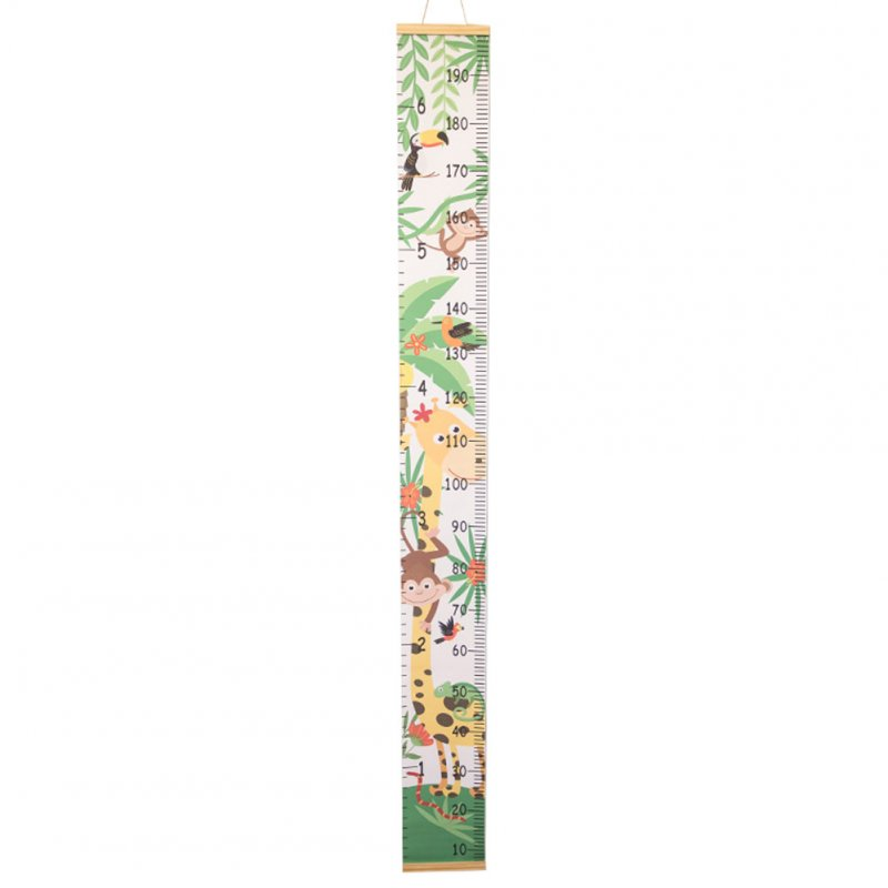 Baby Growth Chart Handing Ruler Wall Decor for Kids Removable Growth Height Chart Animal giraffe_20*200