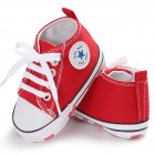 Baby Shoes Soft Sole Fashion Canvas Infant Toddler Sports Leisure Shoes red 12CM