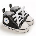 Baby Shoes Soft-soled with Sequin Toddler Shoes for 0-18m Babies black_Bottom length 13CM