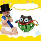 Rubber Hollow Rattle Cartoon Animal Teether
