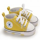 Baby Soft Soled Shoes Canvas Breathable Shoes yellow_11CM bottom length