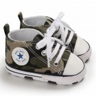 Baby Soft Soled Shoes Canvas Breathable Shoes Camouflage_12CM bottom length