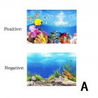 Background Paper Painting 3D Fish Bowl Wallpaper Double-sided Aquarium Decorative Sticker A