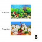 Background Paper Painting 3D Fish Bowl Wallpaper Double-sided Aquarium Decorative Sticker B