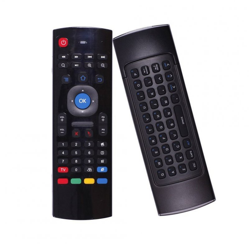 Backlit Air Mouse Smart Remote Control 2.4G RF Wireless Keyboard for TV Computer black