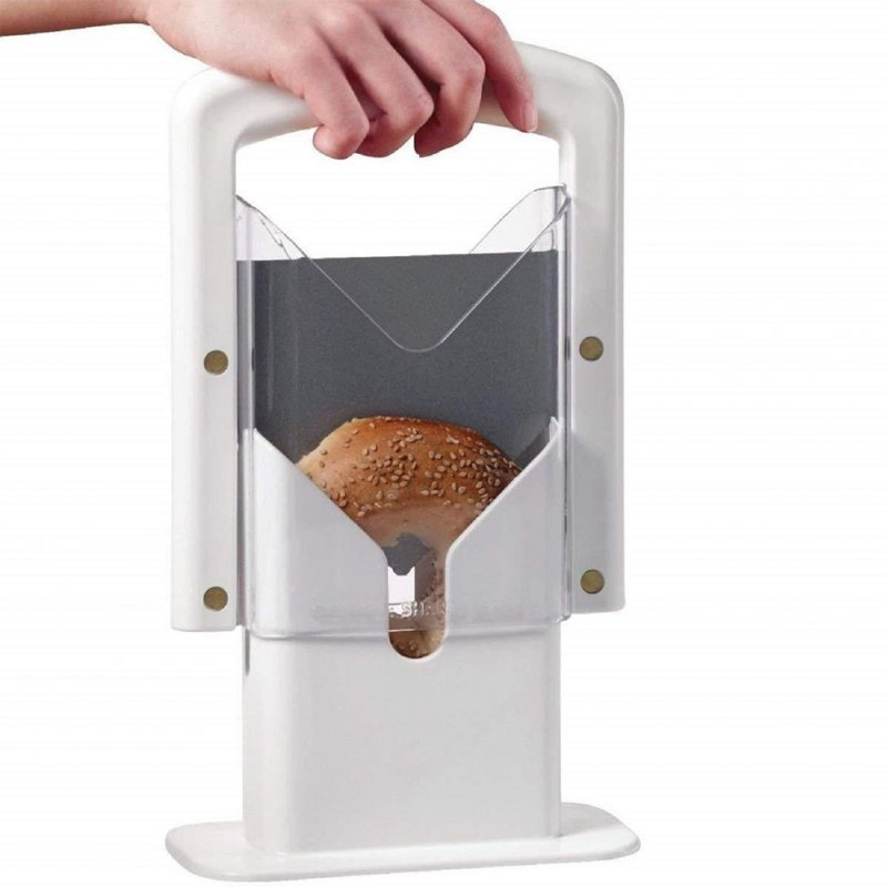 Bagel Guillotine Slicer Stainless Steel Cutter Kitchen Tools   1 item