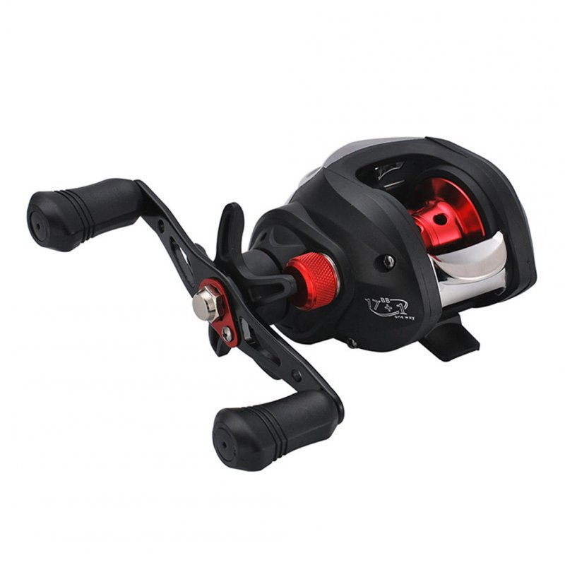 Baitcasting Reel Magnetic Brake 17+1 Axis Anti-explosion Wire Adjustable Full Metal Casting Fishing Wheel black left hand