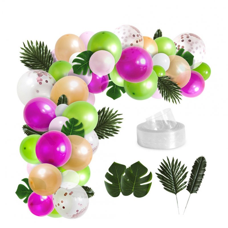 Balloon Simulation Leaf Decoration Set for Indoor Outdoor Birthday Wedding Festival Party 85PCS