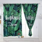 Banana Leaves Printed Window Curtain Bay Window Drape Bedroom Living Room Decoration Palm leaf digital print_0.8 * 1m high hook