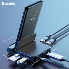 Baseus USB Type C HUB Docking Station Pad Station USB-C to HDMI Dock Power Adapter for Huawei P30 P20 Pro for Samsung S10 S9  Black