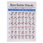 Bass Guitar Chord Practice Chart Music Score Students Learning Fingering Poster Teachers Keyboard Music Lessons Teaching Handy Guide Chart S: 21*28cm_OPP bag packaged