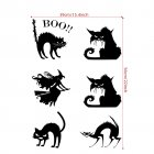Bat/Witch/Cat Wall Sticker Decal for Home Halloween Party Decoration  AFH2105 39X56cm
