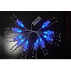 Battery Powered 10 LED Skeleton Halloween Linkable 4 Feet Christmas String  Lights Blue