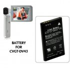Battery for CVGT DV43 1080P HD Camcorder