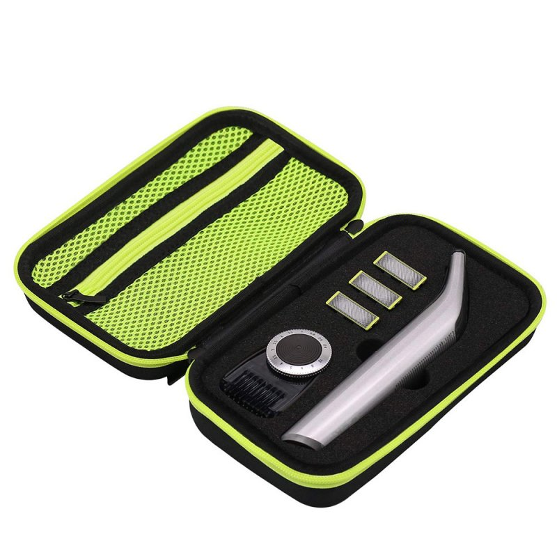 Beard clipper storage bag Hard Case Protective Cover for Philips OneBlade Pro QP6520 QP6510 Philips QP6620/30 Black green