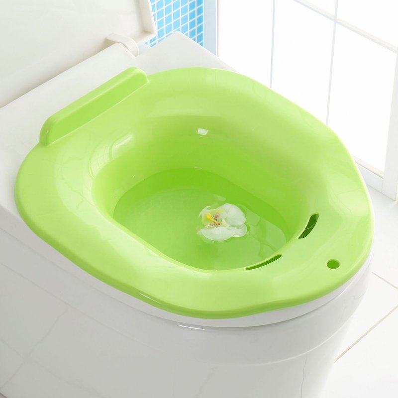Bedpans Anti-splashing Cat Toilet Litter Container Tray for Pet Training green