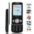 Bermuda   Slider Quadband Cell Phone with Triple Sim Card Slot